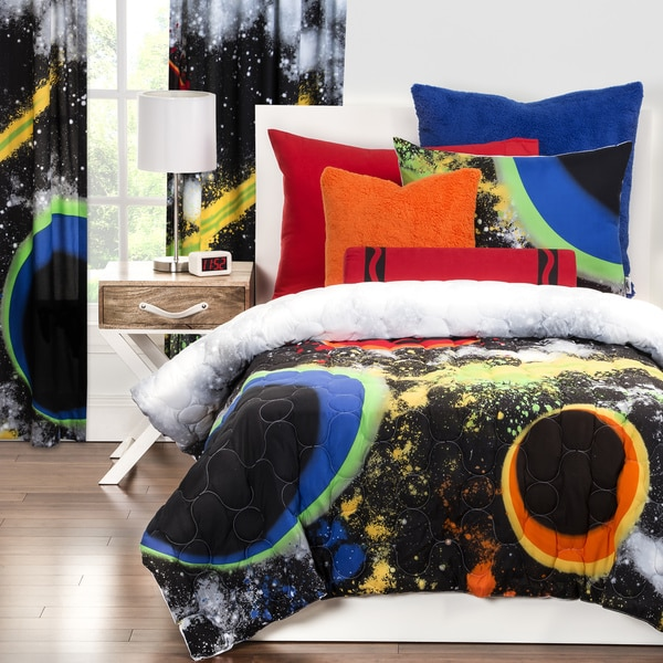 Crayola Out of This World 3-piece Comforter Set. Opens flyout.