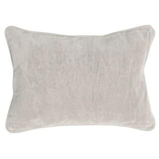 Kosas Home Heirloom Grey Velvet Fog 14 x 20 Throw Pillow