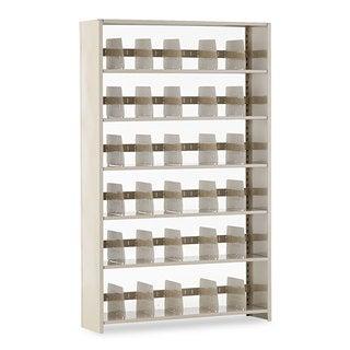 Tennsco Snap-Together Steel Six-Shelf Closed Starter Set, 48w x 12d x 76h, Sand