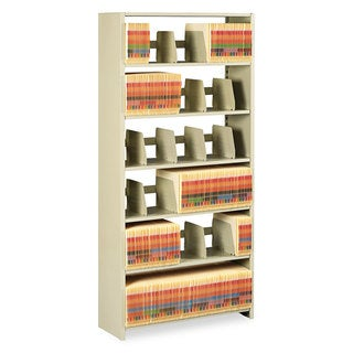 Tennsco Snap-Together Steel Six-Shelf Closed Starter Set, 36w x 12d x 76h, Sand
