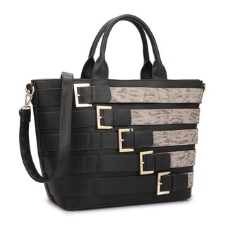 Dasein Medium Buckle Tote Handbag