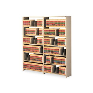 Tennsco Snap-Together Seven-Shelf Closed Add-On Unit, Steel, 36w x 12d x 88h, Sand