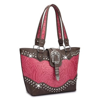 Link to Dasein Western Style Rhinestone Buckle Camo Tote Handbag Similar Items in Shop By Style