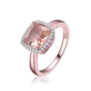 Collette Z CZ Sterling Silver Morganite Ring