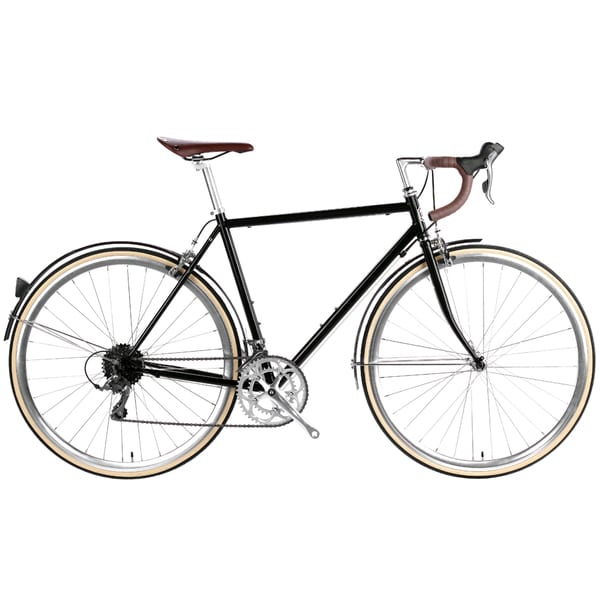 6KU Chromoly Del Rey Black Steel 16-speed Classic Road Bike