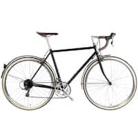 6KU Chromoly Del Rey Black Steel 16-speed Classic Road Bike