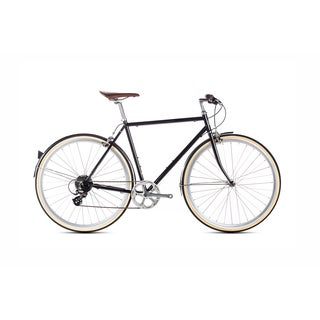 6KU Delano Men's Hybrid Shimano Steel 8-speed Bike