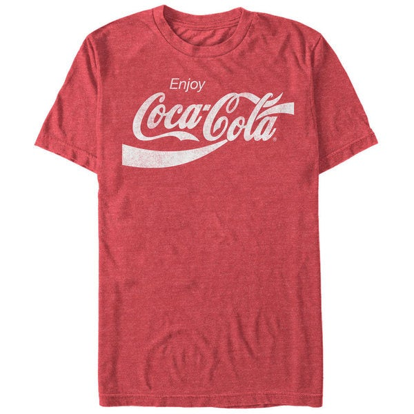 Coca-Cola Mens Eighties Coke Red Cotton Blend T-shirt
