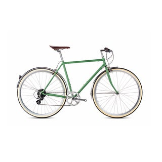 6KU Men's Hybrid Shimano Silverlake Green 8-speed Bike