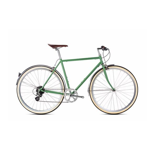 6KU Men's Hybrid Shimano Silverlake Green 8-speed Bike