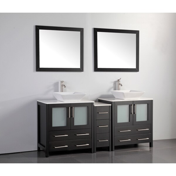 Shop Vanity Art 72 Inch Double Sink Bathroom Vanity Set