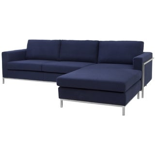 Safavieh Couture High Line Collection Camila Navy Wool Blend Sectional