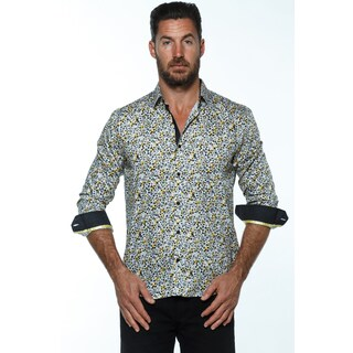 Isaac B. Men's Cotton Long-sleeve Button Down Shirts