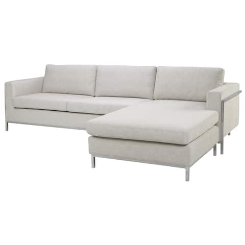 Safavieh Couture High Line Collection Camila Off White Polyester Blend Sectional