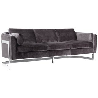 Safavieh Couture High Line Collection Zealand Shale Grey Velvet Sofa