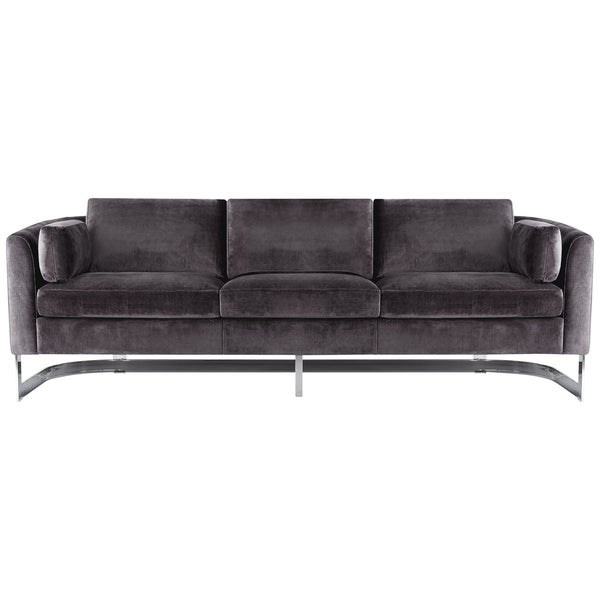 Safavieh Couture High Line Collection Zealand Shale Grey Velvet - High sofa