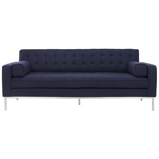 Safavieh Couture High Line Collection Davian Navy Wool Blend Sofa