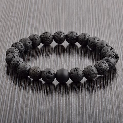 Crucible Spiritual Healing Natural Stone Bead Stretch Bracelet