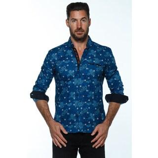 Isaac B. Paisley Cotton Long-sleeve Button-down Shirt