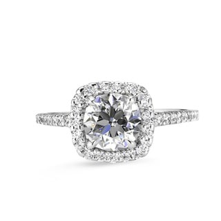 Lihara and Co. 18K White Gold and 0.30ct TDW Semi-Mount Diamond Engagement Ring
