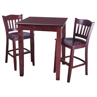 Americana 3-piece Mahogany Finish Pub Set