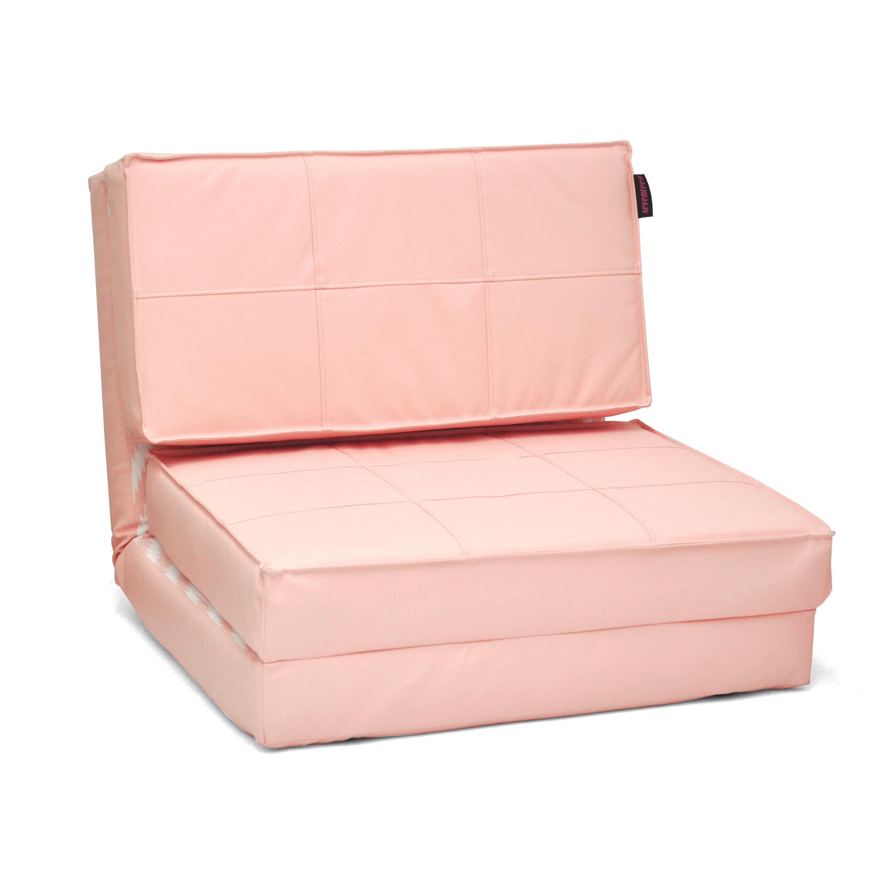 SEVENTEEN Blue/ Pink Foldable Flip Chair (Pink) (Polyeste...