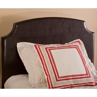Hillsdale Furniture Lawler Brown Faux Leather Headboard with Rails