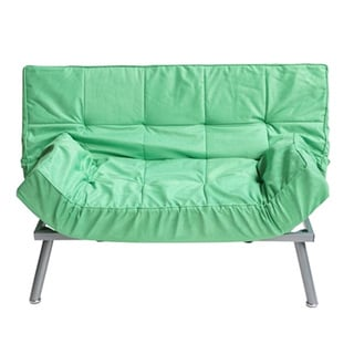 The College Spring Green Cozy Mini-futon Sofa
