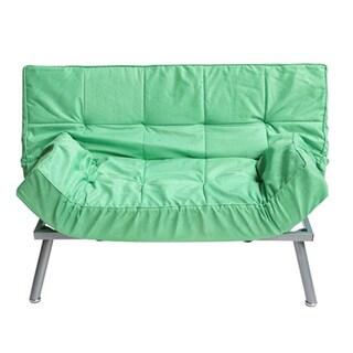 The College Spring Green Cozy Mini-futon Sofa
