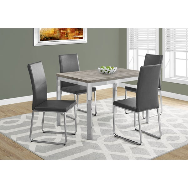 48 inch dining table round dark taupe chrome metal 32inch 48inch dining table shop free