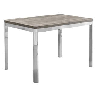 Dark Taupe Chrome Metal 32-inch x 48-inch Dining Table|https://ak1.ostkcdn.com/images/products/13785388/P20436680.jpg?impolicy=medium