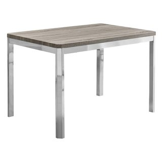 Dark Taupe Chrome Metal 32-inch x 48-inch Dining Table
