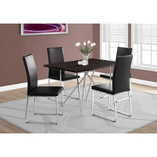 Cappuccino Dining Table with Chrome Base
