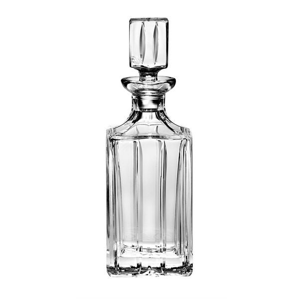 Majestic Gifts Clear Hand-cut Crystal 30-ounce Square Whiskey Decanter