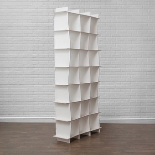 Modern Tall Cube Wave Storage Bookcase
