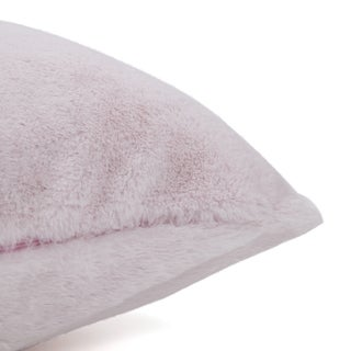 Aurora Home Luxe Solid Faux Fur Pillows (Set of 2)