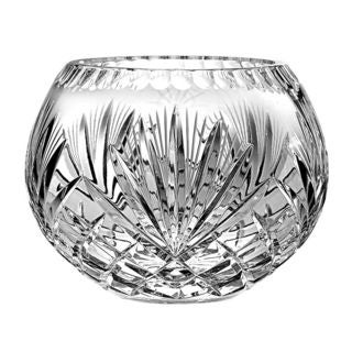 Majestic Gifts Clear Crystal 5-inch Diameter Hand-cut Crystal Rose Bowl