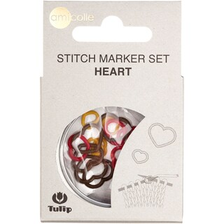 Tulip Stitch Markers 15/Pkg-Yellow-Small/Red-Medium/Brown-Large