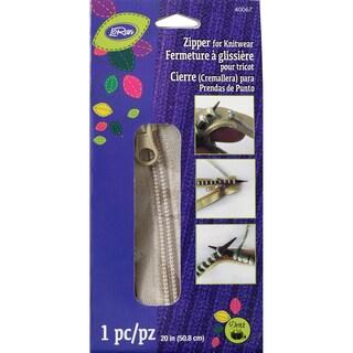"""LoRan Knitwear Zip Fastener 20""""-Oatmeal"""