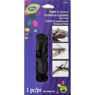 """LoRan Knitwear Zip Fastener 20""""-Black"""