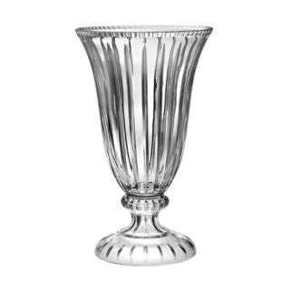 Majestic Gifts Hand-cut Crystal 18-inch Tall Footed Vase