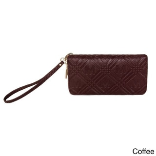 MKF Collection Embossed Zippered Signature Wallet by Mia K. Farrow