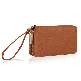 MKF Collection Embossed Zippered Signature Wallet by Mia K. Farrow|https://ak1.ostkcdn.com/images/products/13786575/P20437758.jpg?impolicy=medium