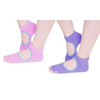 ETCBUYS Toeless Mixed Color Non-Slip Yoga Socks Surprise Bag