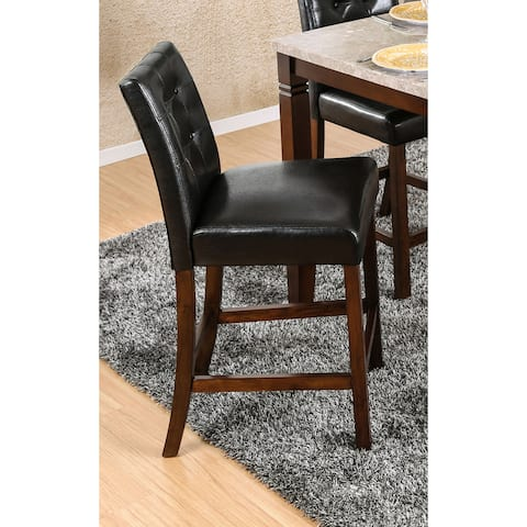 Furniture of America Jald Transitional Black Counter Chairs (Set of 2)