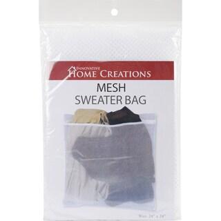 "Mesh Sweater Wash Bag-24""X24"" White"