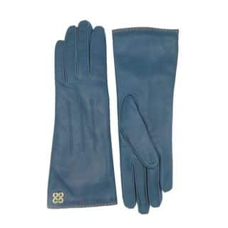 Coach Teal Blue Leather Logo Gloves|https://ak1.ostkcdn.com/images/products/13786681/P20437829.jpg?impolicy=medium