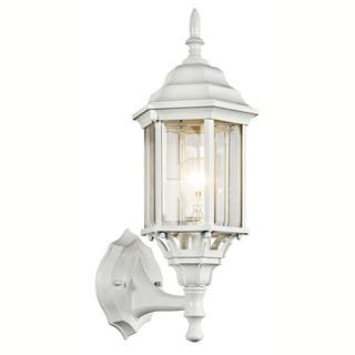 Natural white outdoor light fixtures workwithnaturefo kichler lighting outdoor lighting for less overstock kichler lighting chesapeake collection 1 light white outdoor wall aloadofball Gallery