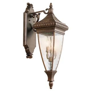 Kichler Lighting Venetian Rain Collection 3-light Brushed Bronze Outdoor Wall Lantern