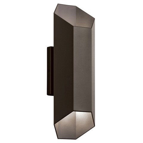 Kichler Lighting Estella Collection 1-light Textured Architectural Bronze LED Outdoor Wall Sconce